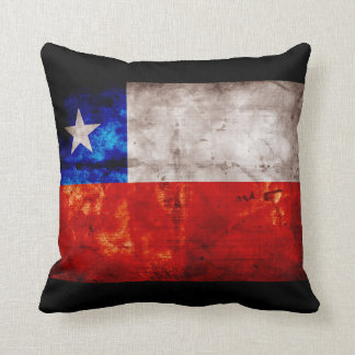 Weathered Chile Flag Cushion