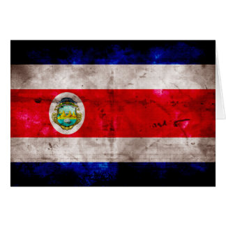 Weathered Costa Rica Flag Stationery Note Card