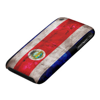 Weathered Costa Rica Flag iPhone 3 Covers