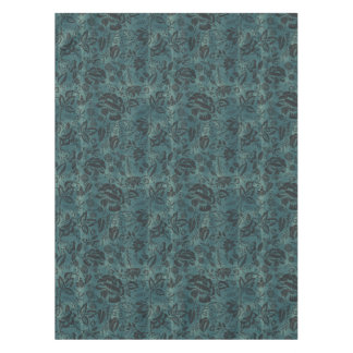 Weathered Cotton Floral Block Tablecloth