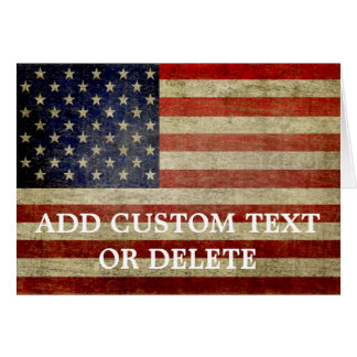 Weathered, distressed American Flag Card