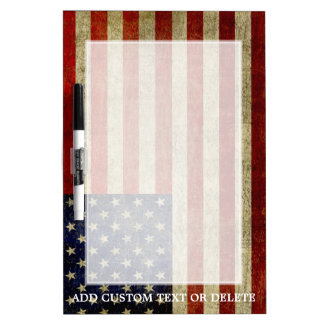 Weathered, distressed American Flag Dry Erase Board