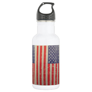 Weathered, Distressed American USA Flag 532 Ml Water Bottle