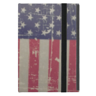 Weathered, Distressed American USA Flag Cover For iPad Mini