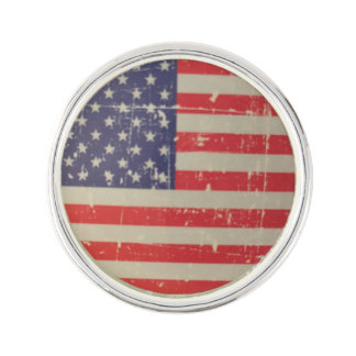 Weathered, Distressed American USA Flag Lapel Pin