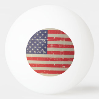 Weathered, Distressed American USA Flag Ping Pong Ball