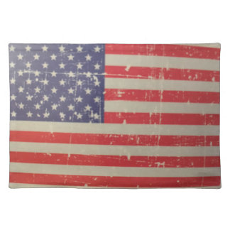 Weathered, Distressed American USA Flag Placemat