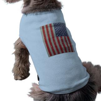 Weathered, Distressed American USA Flag Shirt