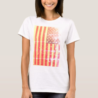 Weathered, Distressed American USA Flag T-Shirt