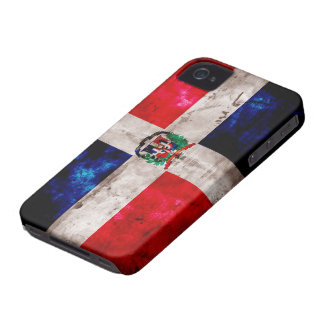 Weathered Dominican Republic Flag iPhone 4 Cases