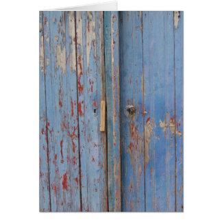 Weathered Door Greeting Card