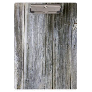 Weathered Door Planks Clipboard