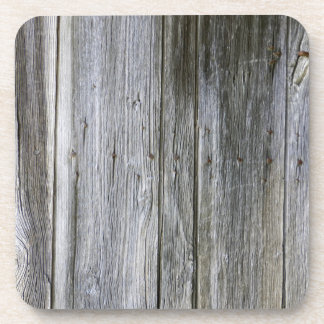 Weathered Door Planks Hard Plastic Coasters