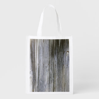 Weathered Door Planks Reusable Bag