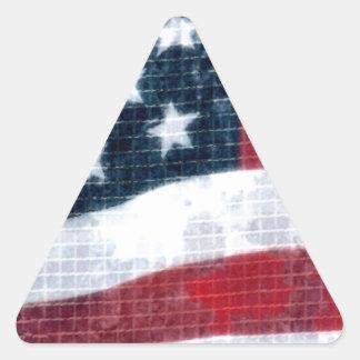 Weathered flag triangle sticker