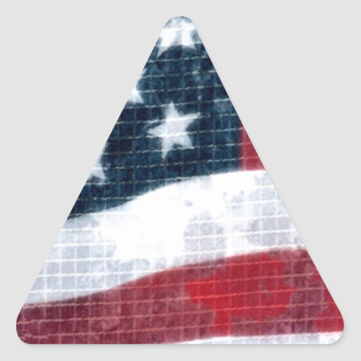Weathered flag triangle sticker