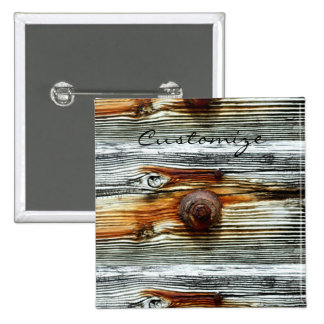 weathered grey board Thunder_Cove 15 Cm Square Badge
