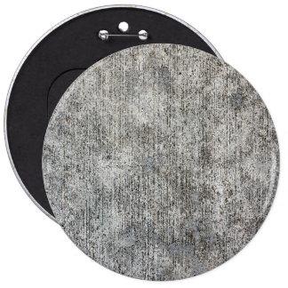 Weathered Grey Cement Sidewalk 6 Cm Round Badge