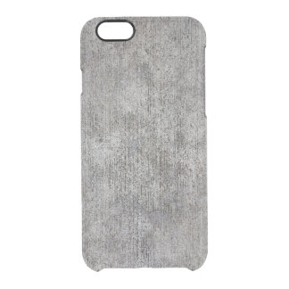 Weathered Grey Cement Sidewalk Clear iPhone 6/6S Case