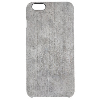 Weathered Grey Cement Sidewalk Clear iPhone 6 Plus Case