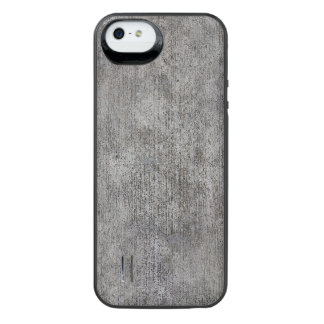 Weathered Grey Cement Sidewalk iPhone SE/5/5s Battery Case