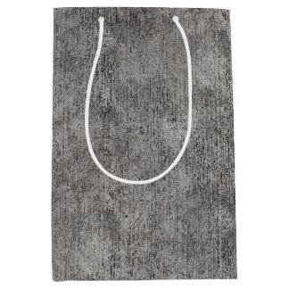 Weathered Grey Cement Sidewalk Medium Gift Bag