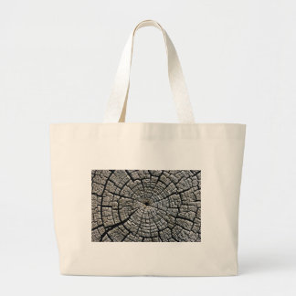Weathered growth ring large tote bag