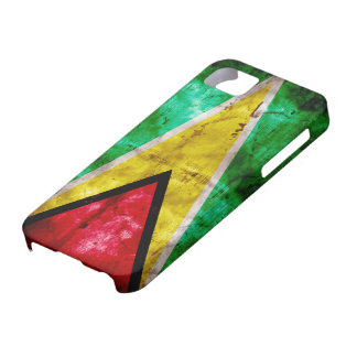 Weathered Guyana Flag iPhone 5 Case