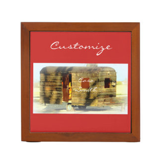 Weathered gypsy caravan Thunder_Cove any color Desk Organiser