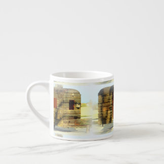 Weathered gypsy caravan Thunder_Cove any color Espresso Cup