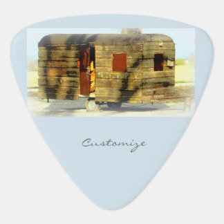 Weathered gypsy caravan Thunder_Cove any color Guitar Pick