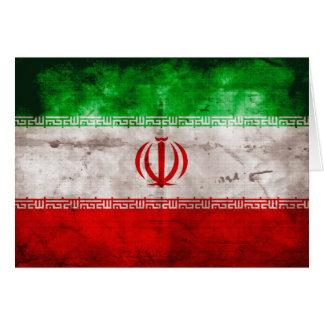 Weathered Iran Flag Card