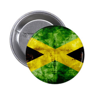 Weathered Jamaica Flag 6 Cm Round Badge