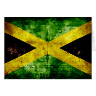 Weathered Jamaica Flag Note Card