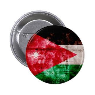 Weathered Jordanian Flag 6 Cm Round Badge