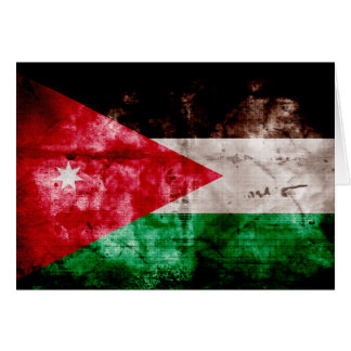 Weathered Jordanian Flag Greeting Cards