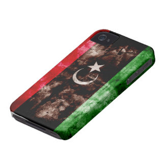 Weathered Libya Flag Case-Mate iPhone 4 Case
