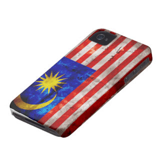 Weathered Malaysia Flag iPhone 4 Covers