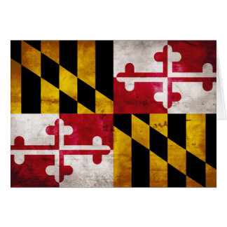 Weathered Maryland Flag Card