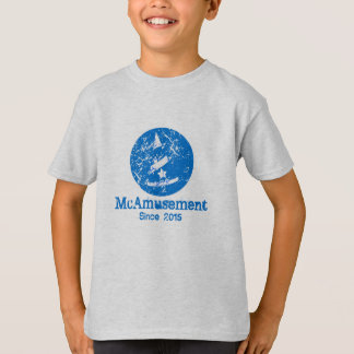 Weathered McAmusement Logo Kids T-Shirt