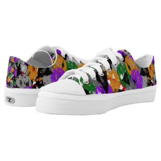 Weathered Multi colored Shape Printed Shoes