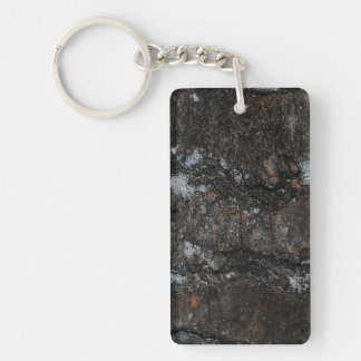 Weathered N Worn Wood Double Sided  Keychain