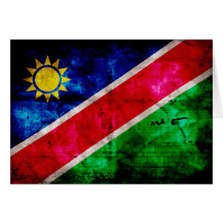Weathered Namibia Flag Note Card
