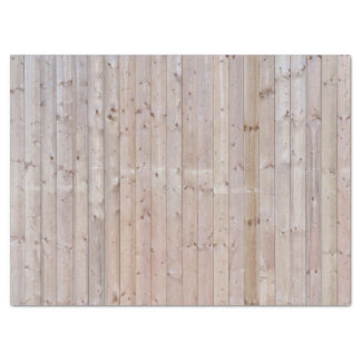 Weathered Narrow Wood Planks Tissue Paper