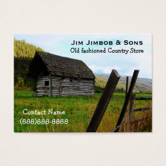 Weathered Old Barn and Farm Fence in the Country Business Card