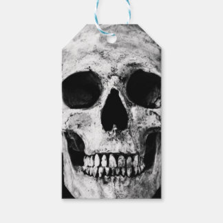 Weathered Old Skull - Black & White Gift Tags