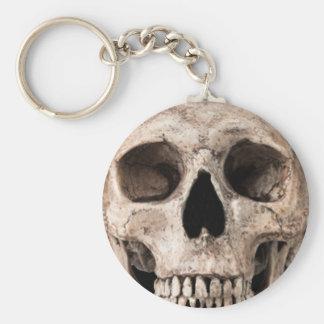 Weathered Old Skull Key Ring