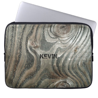 Weathered Old Wood Brain Texture Laptop Sleeve