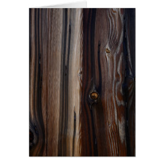 Weathered Old Wood Wall Texture Card
