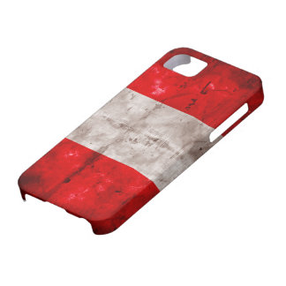 Weathered Peru Flag Barely There iPhone 5 Case